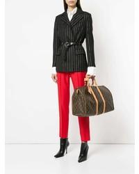 Grand sac en cuir imprimé marron foncé Louis Vuitton Vintage