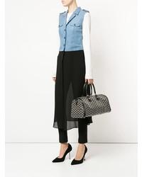 Grand sac en cuir imprimé noir Goyard Vintage