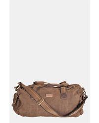 Grand sac en cuir marron foncé