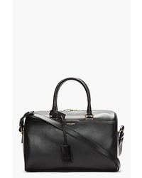 Grand sac en cuir noir