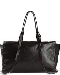 Grand sac en cuir noir Ann Demeulemeester
