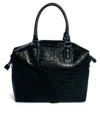 Grand sac en cuir noir Asos