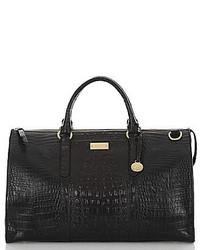 Grand sac en cuir noir Brahmin