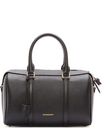 Grand sac en cuir noir Burberry