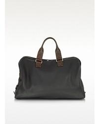 Grand sac en cuir noir Chiarugi