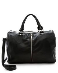 Grand sac en cuir noir Deux Lux