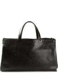 Grand sac en cuir noir Jil Sander