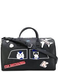 Grand sac en cuir noir Karl Lagerfeld