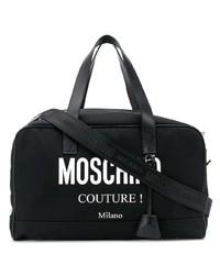 Grand sac en cuir noir Moschino