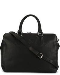 Grand sac en cuir noir Vivienne Westwood