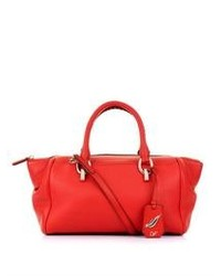 Grand sac en cuir rouge
