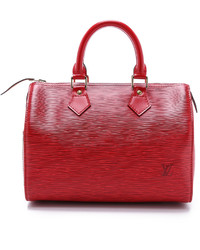 Grand sac en cuir rouge Louis Vuitton