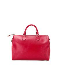 Grand sac en cuir rouge Louis Vuitton Vintage