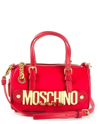Grand sac en cuir rouge Moschino
