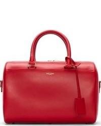 Grand sac en cuir rouge Saint Laurent