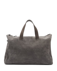Grand sac en daim gris foncé