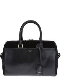 Grand sac en daim noir Saint Laurent