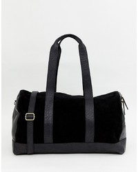 Grand sac en daim noir Urbancode