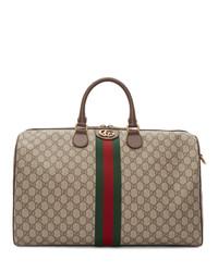Grand sac en toile beige Gucci