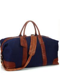 Grand sac en toile bleu marine