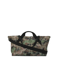 Grand sac en toile camouflage olive Valentino