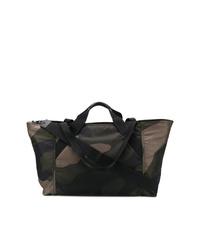 Grand sac en toile camouflage vert foncé Valentino