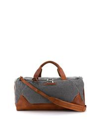 Grand sac en toile gris foncé Brunello Cucinelli