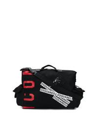 Grand sac en toile imprimé noir DSQUARED2