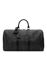 Grand sac en toile imprimé noir Etro