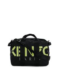 Grand sac en toile imprimé noir Kenzo