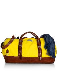 Grand sac en toile jaune