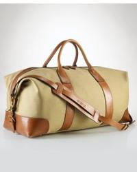 Grand sac en toile marron clair