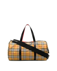Grand sac en toile marron clair Burberry