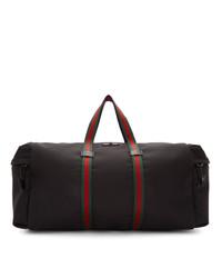Grand sac en toile noir Gucci