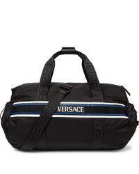 Grand sac en toile noir Versace