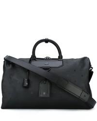 Grand sac imprimé noir MCM