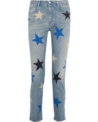 Jean à étoiles bleu clair Stella McCartney