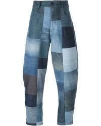 Jean à patchwork bleu Giuliano Fujiwara