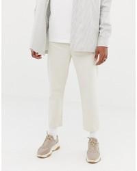 Jean beige ASOS WHITE
