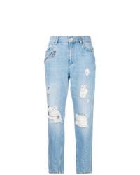Jean boyfriend déchiré bleu clair Versace Jeans