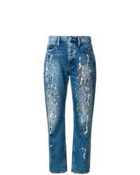 Jean boyfriend imprimé bleu Calvin Klein Jeans