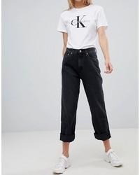 Jean boyfriend noir Calvin Klein Jeans