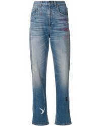 Jean brodé bleu Gucci