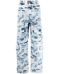 Jean camouflage bleu clair Valentino