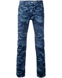 Jean camouflage bleu marine