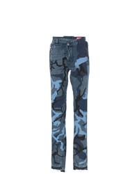 Jean camouflage bleu marine Diesel Red Tag