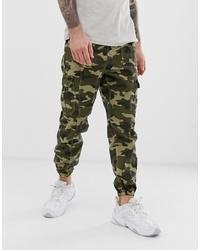 Jean camouflage olive Bershka