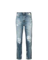 Jean déchiré bleu AG Jeans