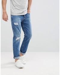 Jean déchiré bleu Calvin Klein Jeans