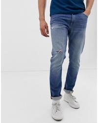 Jean déchiré bleu Tiger of Sweden Jeans